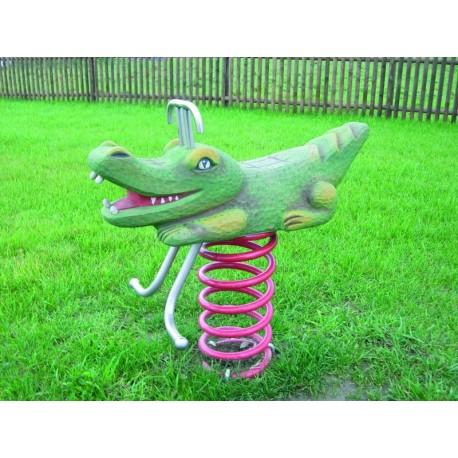 Crocodile jeu sur ressort