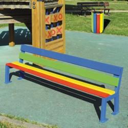 Banc multicolore ou monochrome pour école maternelle