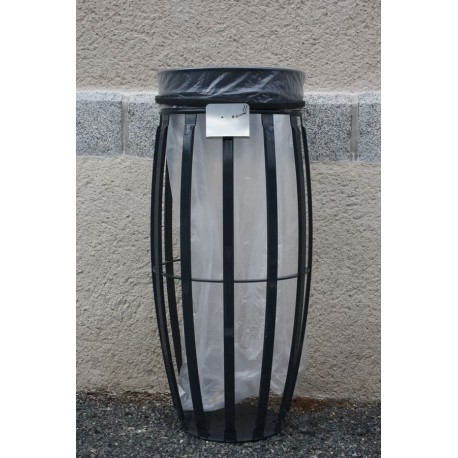 Corbeille VIGIPIRATE avec entourage transparent ultra-résistant
