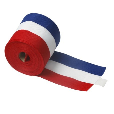 Ruban d'inauguration tricolore largeur 10 cm