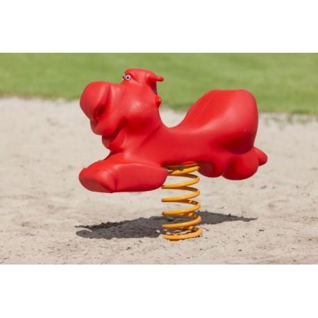 Taureau géant jeu sur ressort