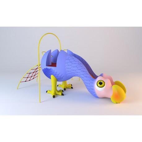 """Structure de jeux """"le dodo avec toboggan et filet à grimper"""""""