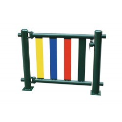 Portillon métallique pour ensemble de barrières MC034