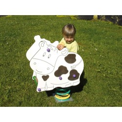 Vache - jeu sur ressort